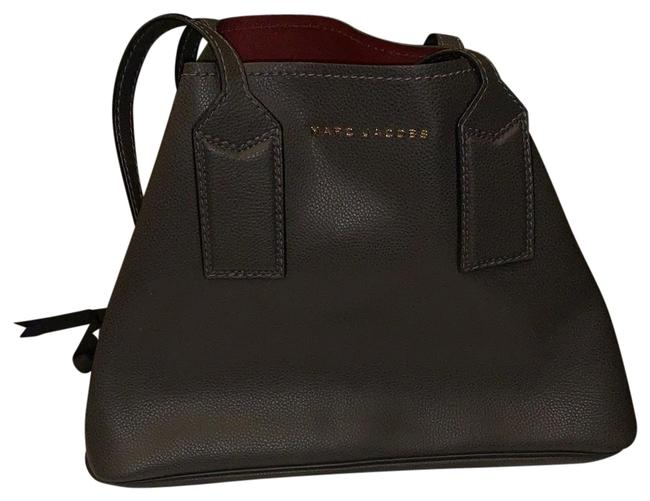 Item - The Editor Dark Grey/Brown Leather Tote