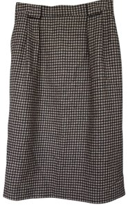 Talbots Skirt Black and tan houndstooth