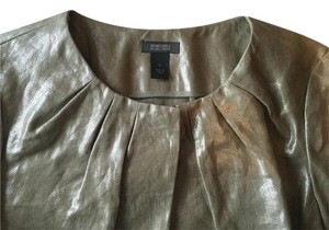 Kenneth Cole Top Gold Linen