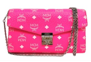MCM Timeless Logo Chain Monogram Cross Body Bag