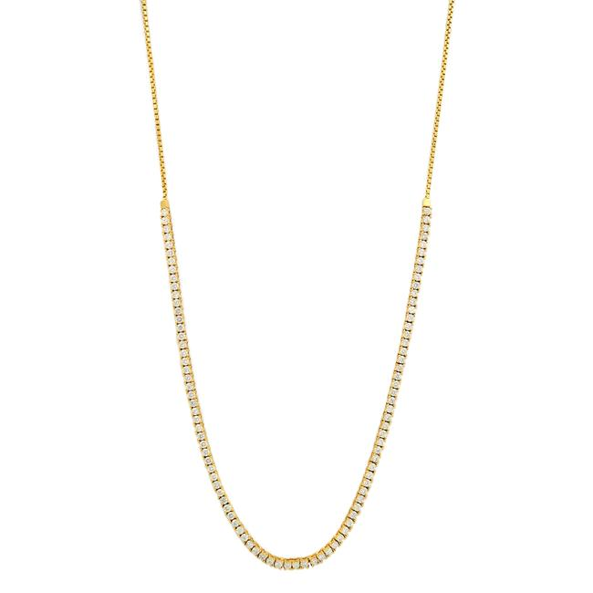 Item - 14k Yellow Gold 3.20cttw Bolo Diamond Necklace