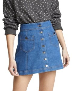 Capulet Mini Skirt Blue