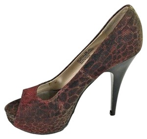 Chinese Laundry Leopard Metallic Red Multi-Color Platforms