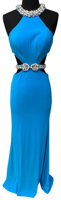 Item - Turquoise 2421 Long Formal Dress Size 2 (XS)