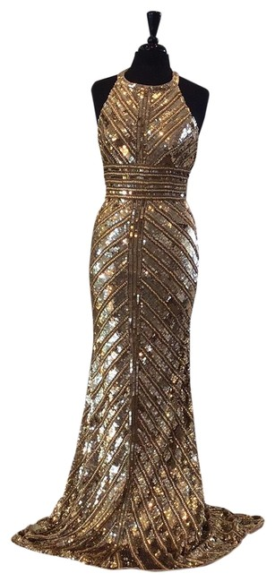 Item - Gold 53455 Long Formal Dress Size 6 (S)