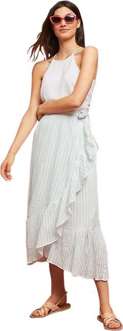 Item - New Blue and White Gloria Striped Ruffled Skirt Size 6 (S, 28)