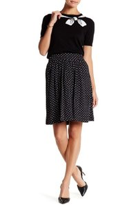 CeCe by Cynthia Steffe Brunch Cocktails Skirt Black and White