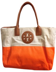 Tory Burch Tote in Beige And Orange