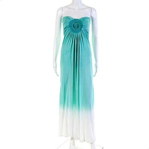White Green Maxi Dress by Ocean Drive Sexy Beach Party Summer Chic