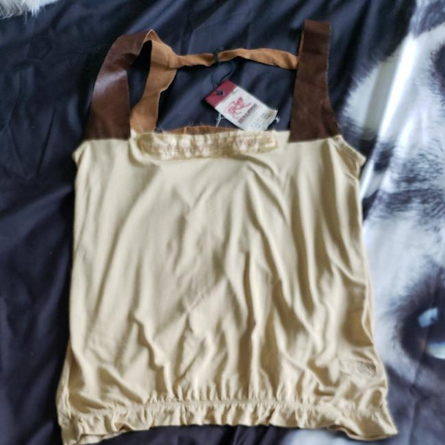 Item - Beige and Brown Camisol Tank Top/Cami Size 8 (M)