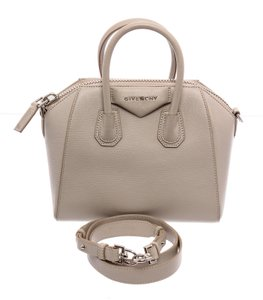 Givenchy Leather Satchel in Cream