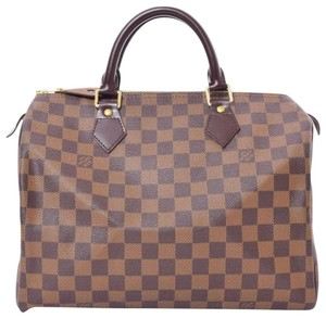 Louis Vuitton Satchel in Brown / Damier Canvas