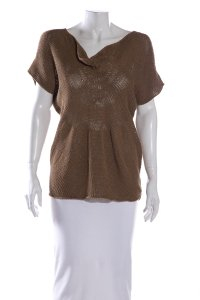 NICOLE FARHI Top Brown