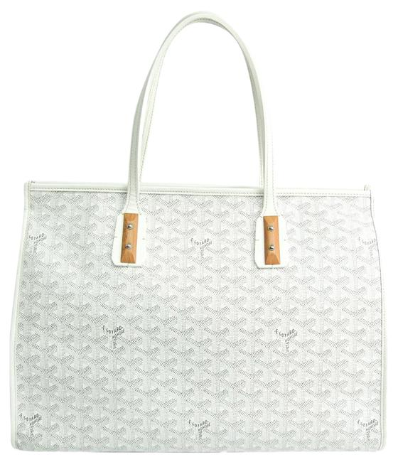 Item - Bag Marquise Women's Gray / White Coated Canvas / Leather Tote
