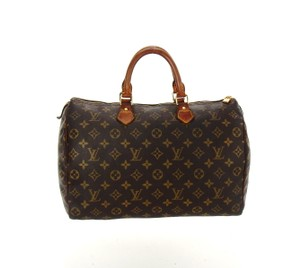 Louis Vuitton 35 Speedy Vintage Monogram Tote in Brown