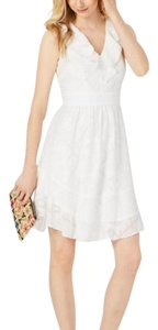 julia jordan short dress Cream White on Tradesy