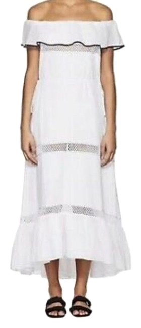 Item - White Off Shoulder Long Casual Maxi Dress Size 4 (S)