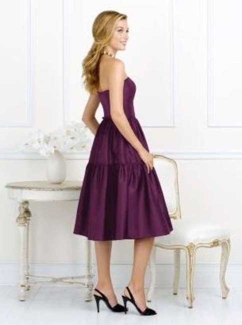 After Six Tea Length Strapless Dress
