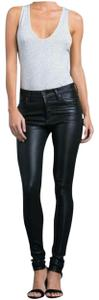 Citizens of Humanity High Waist Coated Skinny Jeans-Dark Rinse