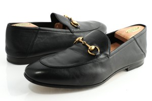 Gucci Black Horsebit Loafer Shoes