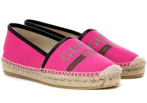 Gucci Sneakers Sandals Espadrille Flats Pink Athletic