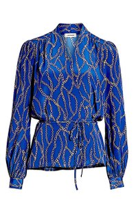 L'AGENCE Top blue new with tag silk