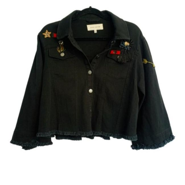 Item - Black Military Bell Sleeve Jacket Size 6 (S)