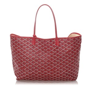 Goyard 0cgotr001 Vintage Leather Tote in Red