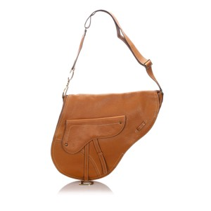 Dior 0cdrsh002 Vintage Leather Shoulder Bag