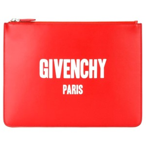 Givenchy red/white Clutch