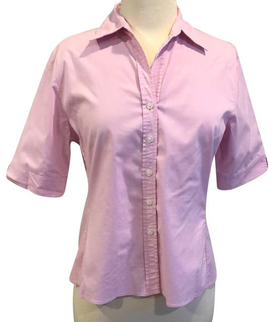 Item - Pink Stretch Button-down Top Size 12 (L)