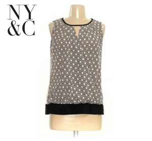 New York & Company Top pink & black