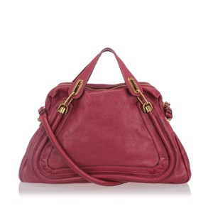 Chloe 9lclst002 Vintage Leather Satchel in Red