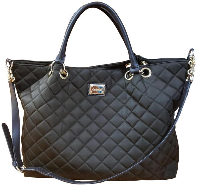 Item - Crossbody Quilted Satchel with Strap Dark Brown Nylon Hobo Bag