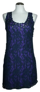 Free People short dress Blue Size 12 on Tradesy
