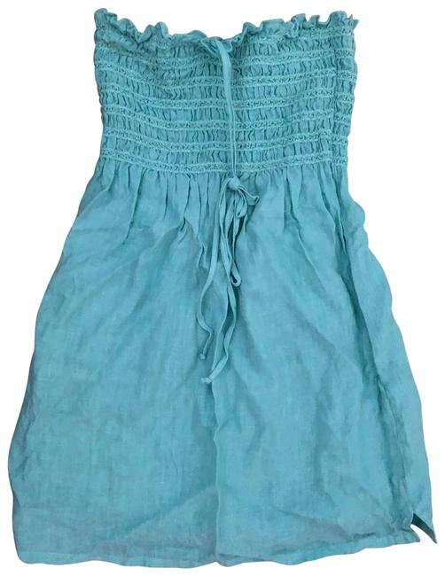 Item - Light Blue Smocked Tunic Cover-up/Sarong Size 4 (S)