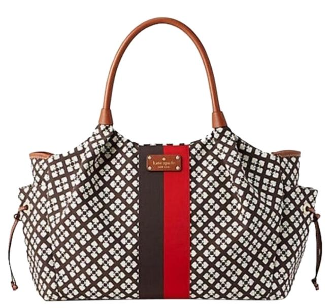 Item - Stevie Chocolate Canvas Diaper Bag