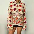 Tory Burch Beige Embroidered XS Shirt Blouse Peasant Tunic Size 2 (XS) Tory Burch Beige Embroidered XS Shirt Blouse Peasant Tunic Size 2 (XS) Image 6