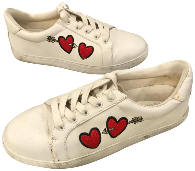 Item - White Heart Design Sneakers Size US 8 Regular (M, B)