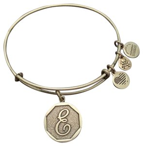 "Alex and Ani Initials Collection ""E"" Bangle"