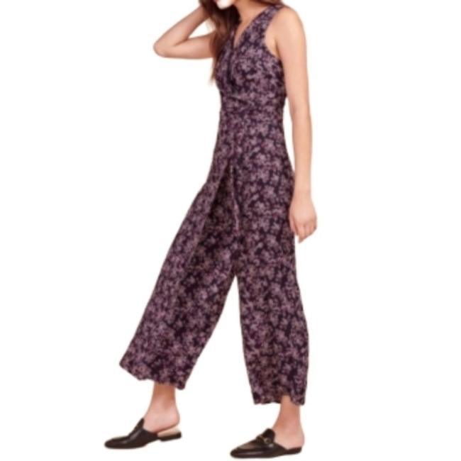 Item - Wine Sleeveless with Wrap Front Romper/Jumpsuit