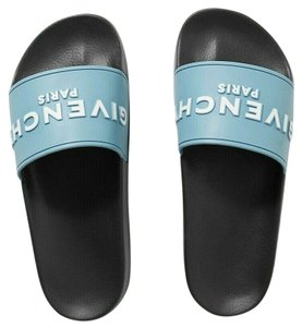 Givenchy Pool Slip Ons Rubber Blue Sandals
