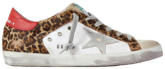 Golden Goose Deluxe Brand Multicolor Superstar Distressed Leopard-print Calf Hair Leather and Suede Sneakers Size EU 35 (Approx. US 5) Regular (M, B) Golden Goose Deluxe Brand Multicolor Superstar Distressed Leopard-print Calf Hair Leather and Suede Sneakers Size EU 35 (Approx. US 5) Regular (M, B) Image 1