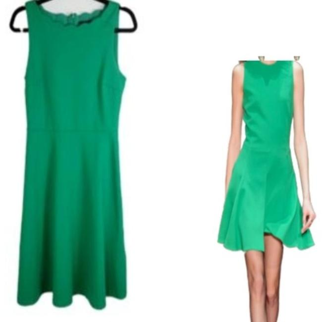 Item - Green Sleeveless Fit and Flare Euc Short Work/Office Dress Size 6 (S)