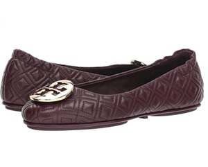 Tory Burch Try Slides Mules Imperial Garnet Flats