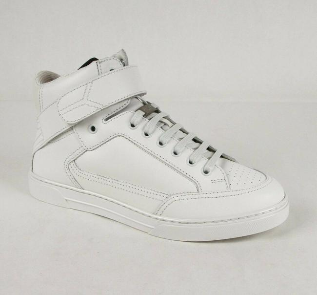 """Item - White Leather Hi Top """"Smoking Forever"""" Sneaker 40/Us 7 485184 9030 Shoes"""