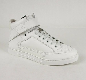"Saint Laurent White Leather Hi Top ""Smoking Forever"" Sneaker 43/Us 10 485184 9030 Shoes"