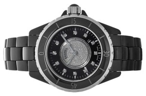 chanel Chanel J12 Black Ceramic Diamonds
