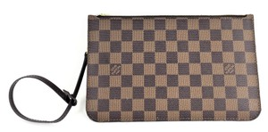 Louis Vuitton Damier Ebene Pochette Wristlet in Brown