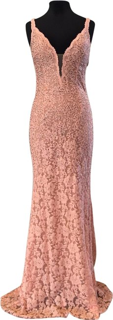 Item - Peach 48994 Long Formal Dress Size 8 (M)
